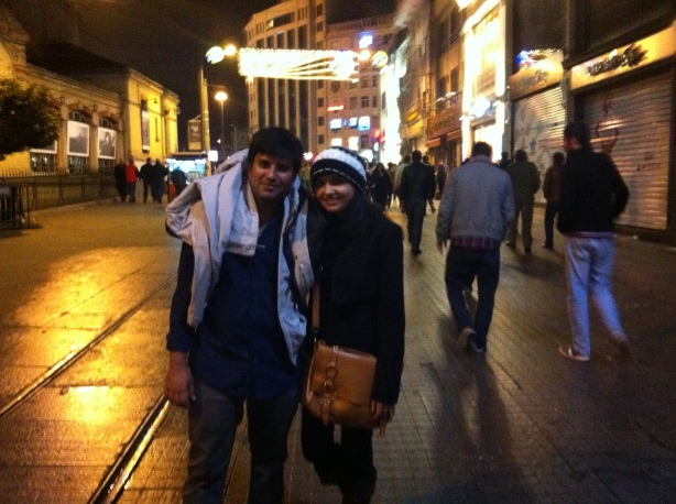 Istiklal street in the night