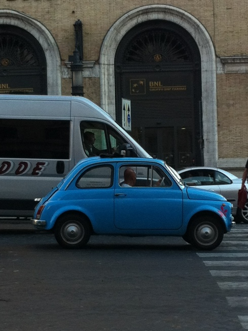 On the road in Rome