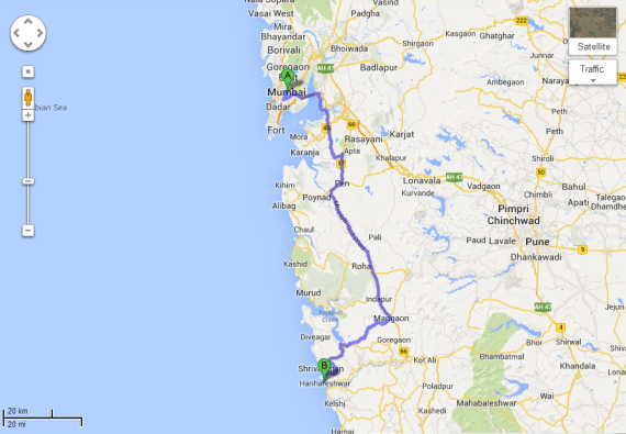 Mumbai to Harihareshwar