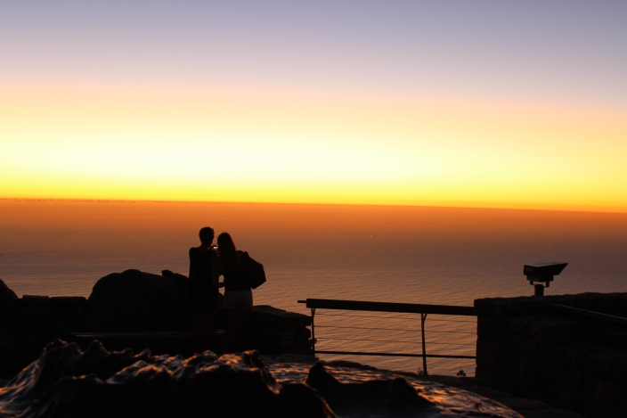 Watching the Sunset from Table Mountain
