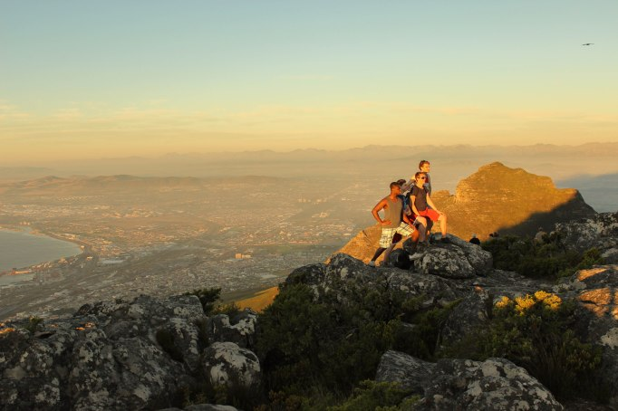 Tourists at Table Mountain