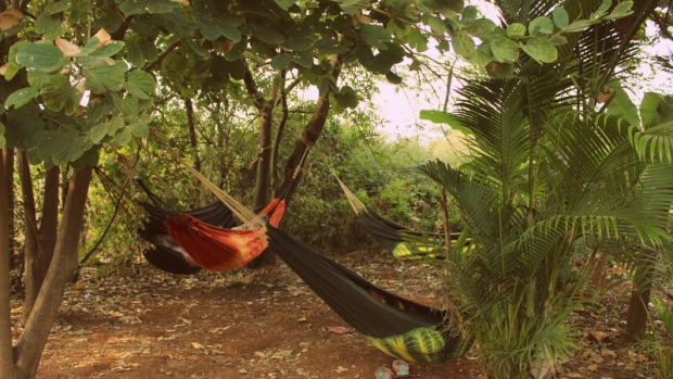 Afternoon siesta at Indus Paragliding base