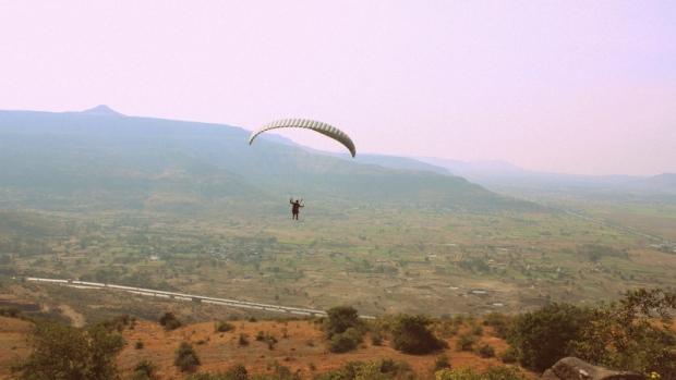 Flying over the Mumbai-Pune Express Way